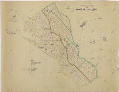 Přehledná porostní mapa lesů velkostatku Trhanov
