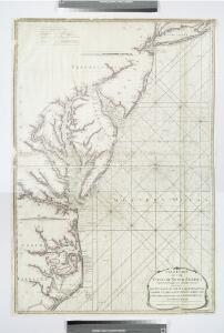 A new chart of the coast of North America : from New York to Cape Hatteras, including the bays of Delaware and Chesapeak, with the coasts of New Jersey, Maryland, Virginia and part of the coast of North Carolina / by Captain N. Holland.