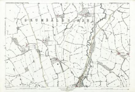 Gloucestershire LXIV.6 (includes: Charfield; Cromhall; Kingswood; Wickwar) - 25 Inch Map