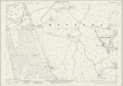 Dorset XXII.2 (includes: Buckland Newton; Glanvilles Wootton; Hermitage; Holnest; Minterne Magna) - 25 Inch Map