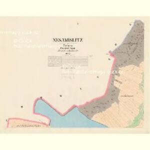 Nesamislitz - c5102-1-001 - Kaiserpflichtexemplar der Landkarten des stabilen Katasters