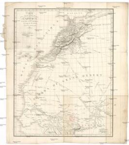 Carte d'une parte de l'Afrique