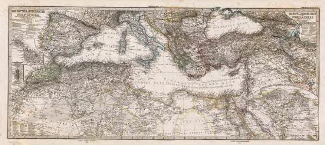 Composite: Mittellandische Meer, Nord-Afrika.