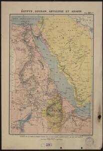 Egypte, Soudan, Abyssinie et Arabie. Extrait de la carte d'Afrique publiée par la librairie patriotique