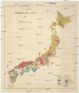 Geological map of Japan
