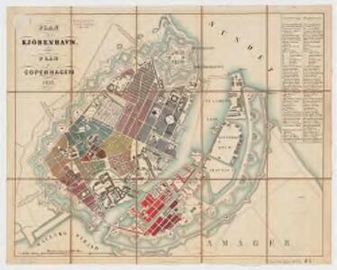 Plan af Kjöbenhavn = Plan of Copenhagen
