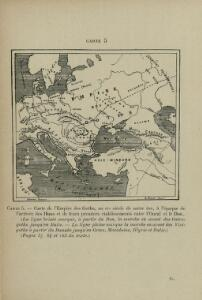 Carte de l'Empire des Goths, au 4e siècle de notre ère, à l'époque de l'arrivée des Huns et de leurs établissements entre l'Oural et le Don
