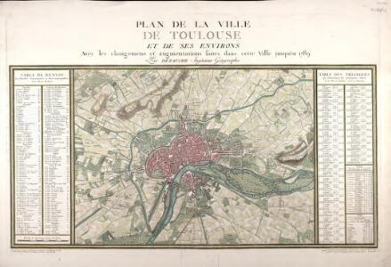 Plan de la ville de Toulouse et de ses environs