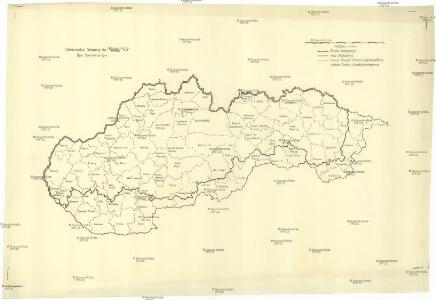 Administrative Gliederung der Slowakei 1930