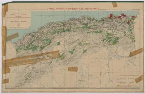Algérie Nord. Forêts domaniales, communales et particulières