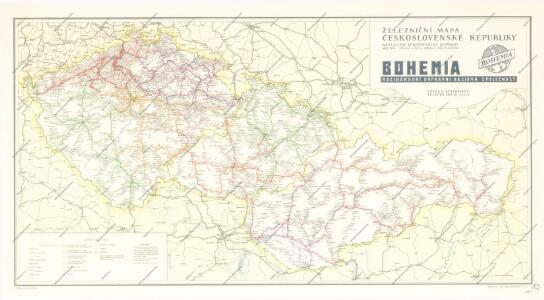 Železniční mapa Československé republiky