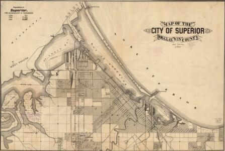 Map of the city of Superior, Douglas County, Wis.