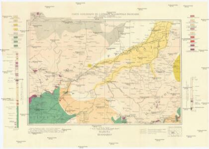 Carte géologique de l'Afrique occidentale française au 1 000 000e