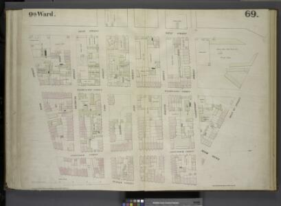 [Plate 69: Map bounded by West Street, West 12th Street, Hudson Street, Bank Street.]