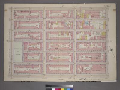 Plate 2, Part of Section 3: [Bounded by E. 20th Street, Avenue D, E. 14th Street and Second Avenue.]