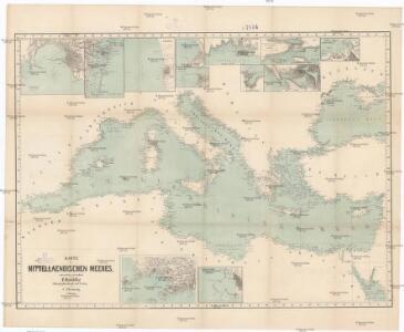 Karte des Mittelländischen Meeres