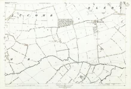 Gloucestershire XXIX.7 (includes: Bledington; Icomb; Idbury; Westcote) - 25 Inch Map