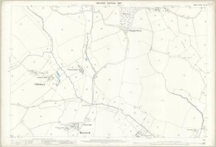 Essex (1st Ed/Rev 1862-96) XIV.15 (includes: Broxted; Chickney; Tilty) - 25 Inch Map