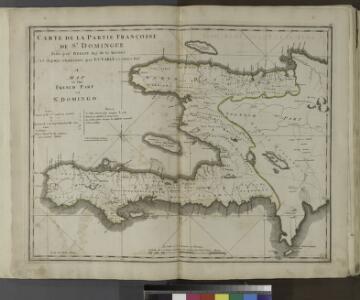 Carte de la partie Françoise de St. Domingue, faite par Bellin, ing-r de la marine et depuis augmentée par P. C. Varlé et autres ing-rs.
