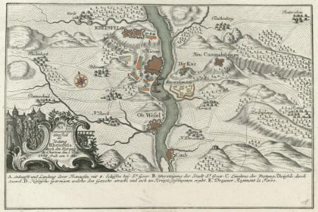 Franzosischer Uberfall der Vestung Rheinfels durch den Marquis de Chartres den 1. Dec. 1758 früh um 5. Uhr