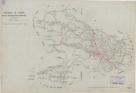 Mapa planimètric de Santa Coloma de Farners