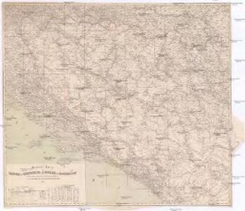 General Karte von Bosnien, der Hercegovina, von Serbien und Montenegro