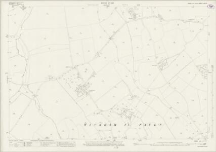Essex (New Series 1913-) n XVI.4 (includes: Bulmer; Gestingthorpe; Wickham St Paul) - 25 Inch Map