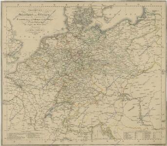 Übersicht der Schnellpost und Eilwagen, ... Deutschland