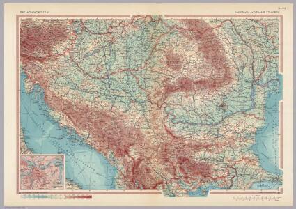 Yugoslavia and Danube Countries.  Pergamon World Atlas.