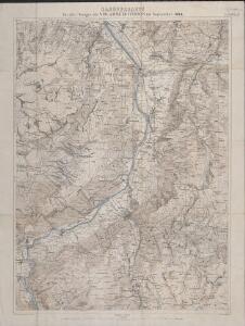 Manöverkarte für die Übungen der VIII. Armeedivision im September 1884