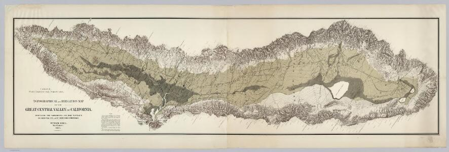 Topographical and Irrigation Map of the Great Central Valley of California.