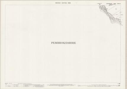 Cardiganshire XXXVIII.13 (includes: Bridell; Cilgerran; Llangoedmor) - 25 Inch Map