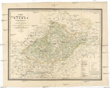 Karte der Markgrafschaft Mähren mit Schlesien