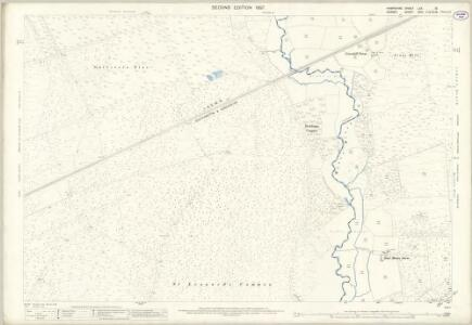 Hampshire and Isle of Wight LXX.13 (includes: St Leonards and St Ives; Verwood; West Parley) - 25 Inch Map