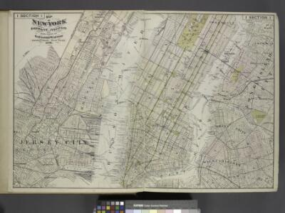 Map of New York, Brooklyn, Jersey City& c.