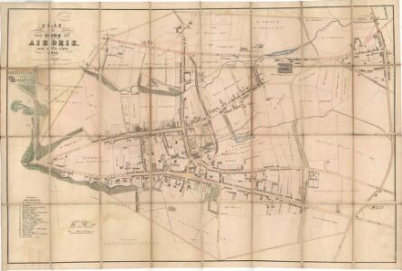 Plan of the Town of Airdrie from actual survey.