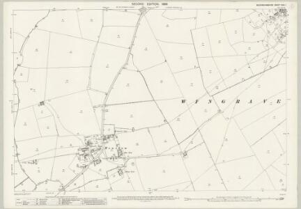 Buckinghamshire XXIX.1 (includes: Aston Abbots; Wingrave with Rowsham) - 25 Inch Map