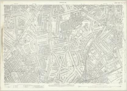 London (1915- Numbered sheets) IX.6 (includes: Camberwell; Lambeth St Mary) - 25 Inch Map