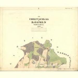 Uhretschlag - c4571-1-001 - Kaiserpflichtexemplar der Landkarten des stabilen Katasters