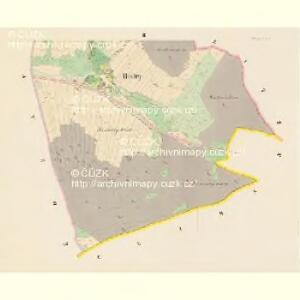 Bistry - c0713-1-002 - Kaiserpflichtexemplar der Landkarten des stabilen Katasters