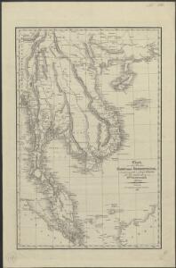 Charte von den Reichen Siam und Cochinchina