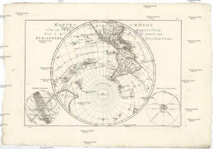 Mappe-monde sur un plan horisontal