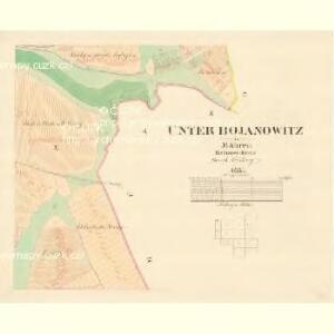 Unter Bojanowitz - m0481-1-010 - Kaiserpflichtexemplar der Landkarten des stabilen Katasters