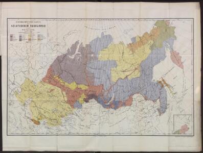 Ethnographische Karte des Asiatischen Russlands