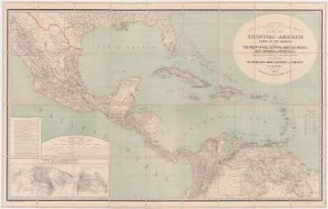 a new map of tropical america north of the equator comprising the west indies central america mexico new cranada sic and venezuela