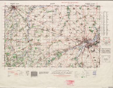 France 1 : 50,000 [GSGS 4250 AMS M762], Caen