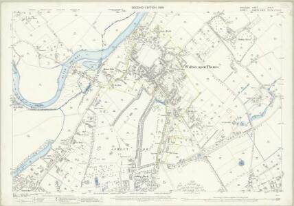Middlesex XXV.13 (includes: Shepperton; Walton Upon Thames) - 25 Inch Map