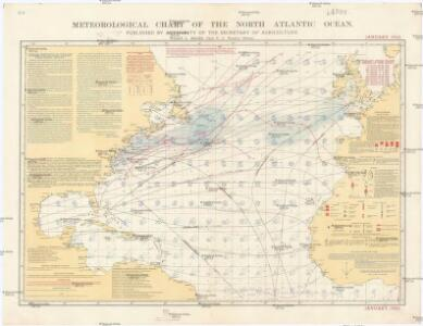 Meteorological chart of the North Atlantic Ocean