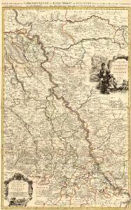 Carte Nouvelle de l'Archevesché et Eslectorat de Cologne Avec ses Enclaves dans les Pays Circomviosins