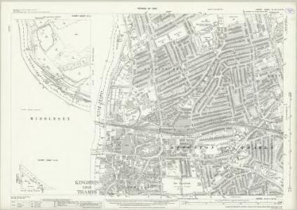 Surrey VI.16 & 11 & 15 (includes: Ham; Kingston Upon Thames; Twickenham St Mary The Virgin) - 25 Inch Map